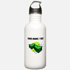 Stacks Of Money (Custom) Water Bottle