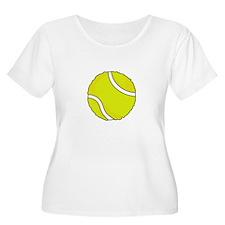 FUZZY TENNIS BALL Plus Size T-Shirt