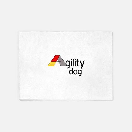 AGILITY DOG 5'x7'Area Rug