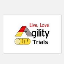 LIVE LOVE AGILITY TRIALS Postcards (Package of 8)