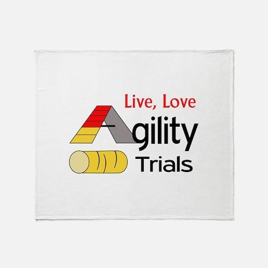 LIVE LOVE AGILITY TRIALS Throw Blanket