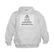 Keep calm you live in Davenport Washin Hoodie