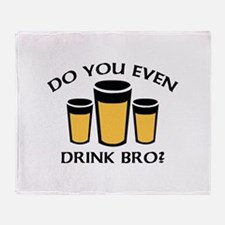 Do You Even Drink Bro? Stadium Blanket