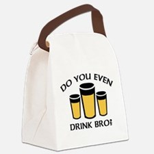Do You Even Drink Bro? Canvas Lunch Bag