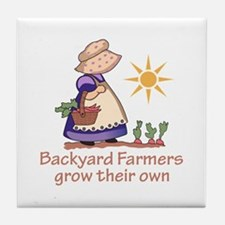 BACKYARD FARMERS Tile Coaster