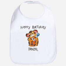 Happy Birthday Denzel (tiger) Bib