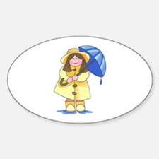 GIRL WITH UMBRELLA Decal