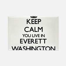 Keep calm you live in Everett Washington Magnets