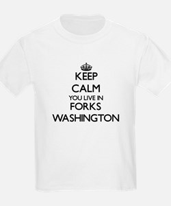 Keep calm you live in Forks Washington T-Shirt