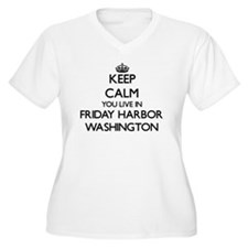 Keep calm you live in Friday Har Plus Size T-Shirt