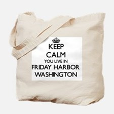 Keep calm you live in Friday Harbor Washi Tote Bag