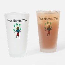 Juggling Money (Custom) Drinking Glass