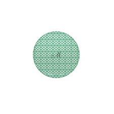 Chick Mint Monogram Mini Button