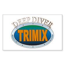 Trimix Deep Diver Rectangle Decal