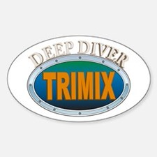 Trimix Deep Diver Oval Decal