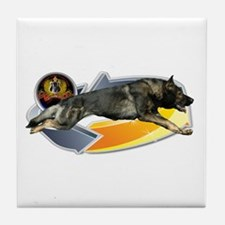 German Shepherd Owner Tile Coaster