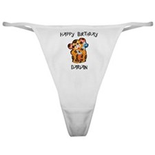Happy Birthday Darian (tiger) Classic Thong