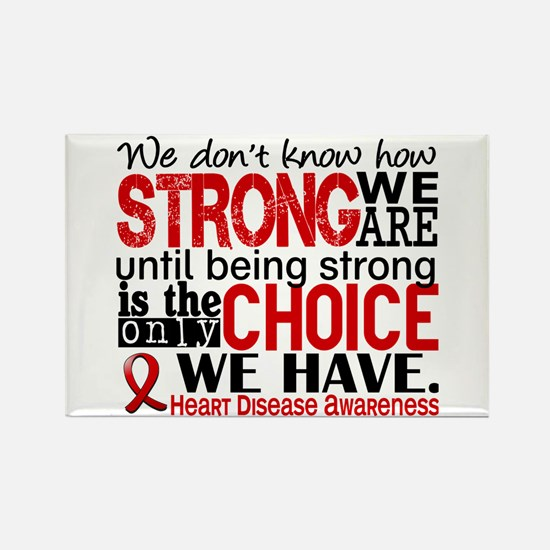 Heart Disease How Strong We Are Rectangle Magnet