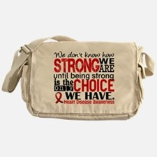 Heart Disease How Strong We Are Messenger Bag