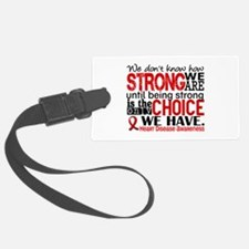 Heart Disease How Strong We Are Luggage Tag