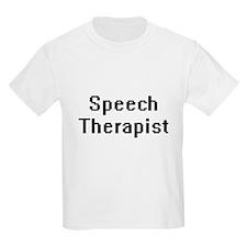 Speech Therapist Retro Digital Job Design T-Shirt