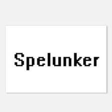 Spelunker Retro Digital J Postcards (Package of 8)