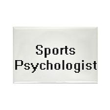 Sports Psychologist Retro Digital Job Desi Magnets