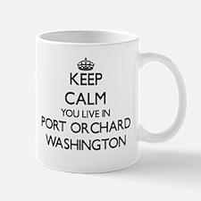Keep calm you live in Port Orchard Washington Mugs