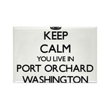 Keep calm you live in Port Orchard Washing Magnets