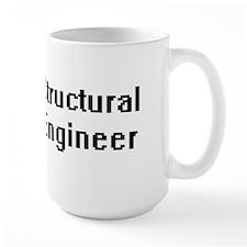 Structural Engineer Retro Digital Job Design Mugs