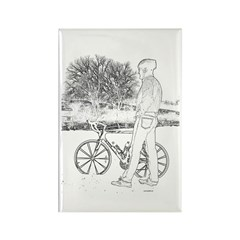 Bicycle Picture Rectangle Magnet (10 pack)