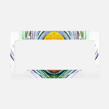 peacock feather License Plate Holder