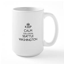 Keep calm you live in Seattle Washington Mugs