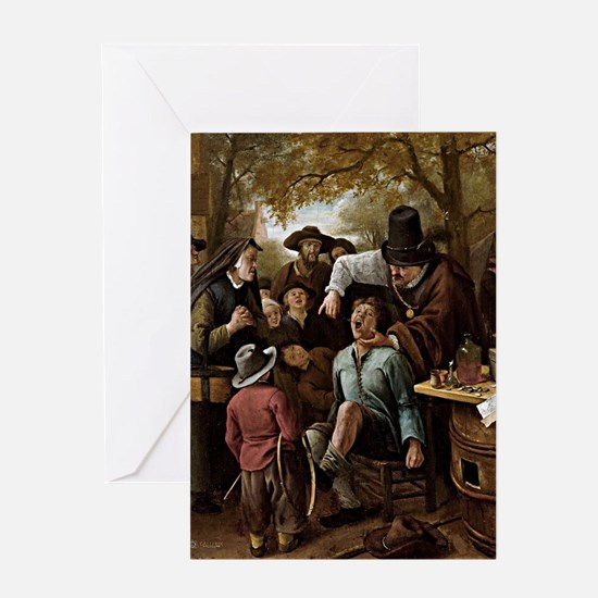 The Tooth Puller - Jan Steen Greeting Card