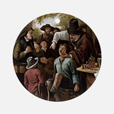 The Tooth Puller - Jan Steen Round Ornament