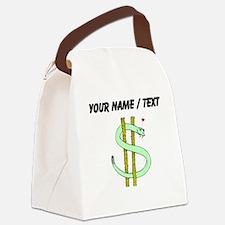 Snake Dollar Sign (Custom) Canvas Lunch Bag
