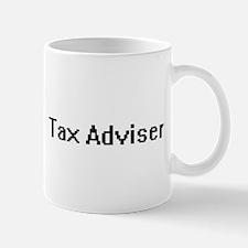 Tax Adviser Retro Digital Job Design Mugs