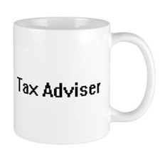 Tax Adviser Retro Digital Job Design Mugs