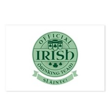 Official Irish Drinking Team Postcards (Package of