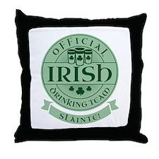 Official Irish Drinking Team Throw Pillow