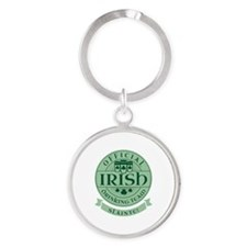 Official Irish Drinking Team Round Keychain