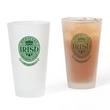 Official Irish Drinking Team Drinking Glass