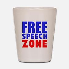 Free Speech Zone Shot Glass