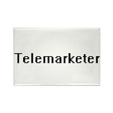 Telemarketer Retro Digital Job Design Magnets