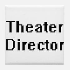 Theater Director Retro Digital Job De Tile Coaster