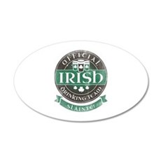 Official Irish Drinking Team 38.5 x 24.5 Oval Wall