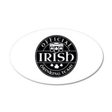 Official Irish Drinking Team 22x14 Oval Wall Peel