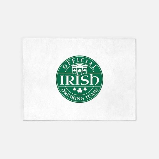 Official Irish Drinking Team 5'x7'Area Rug