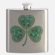 Cute St patricks day Flask