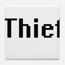Thief Retro Digital Job Design Tile Coaster